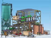 3D model of paste backfill plant