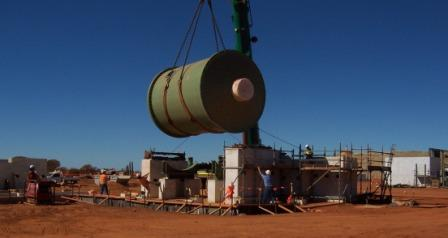 Mill installation at Sinclair Nickel Project