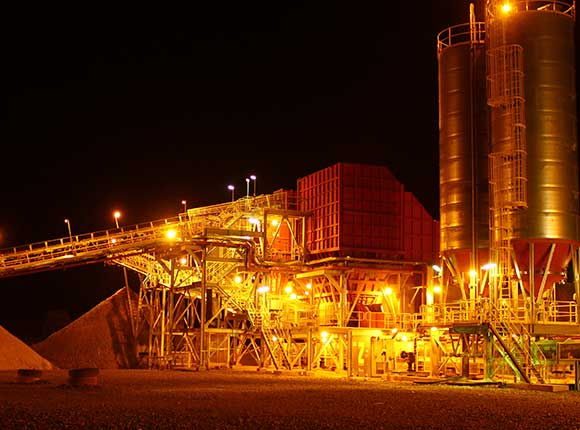Syama Plant at Night
