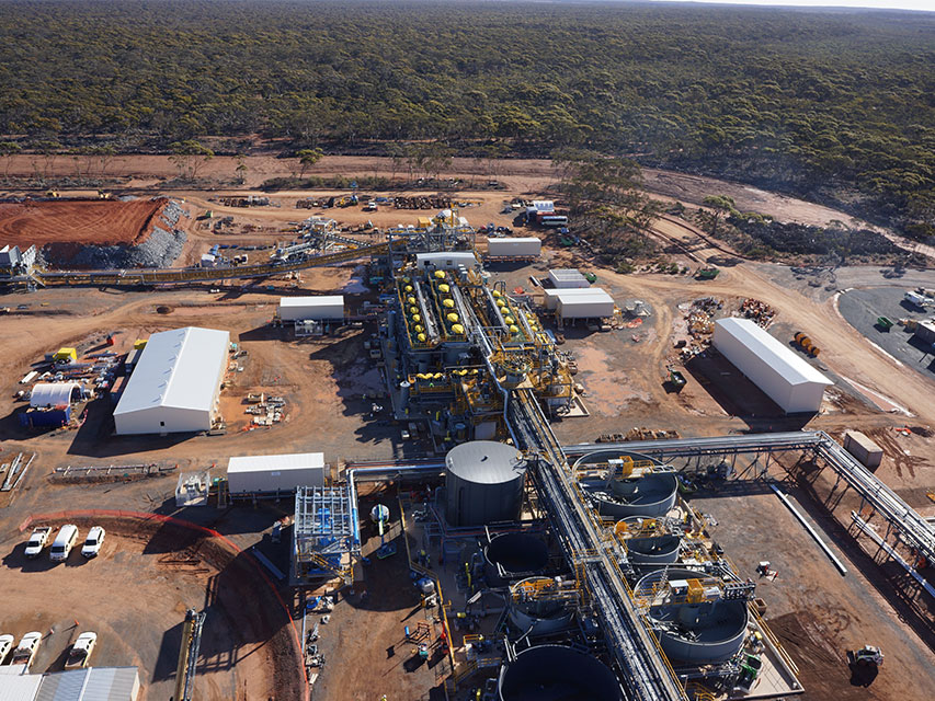 Nova Nickel Processing Plant Aerial View