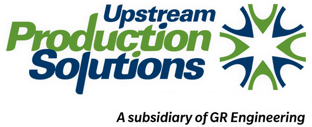 Upstream Productions Solutions a subsidiary of GR Engineering, logo